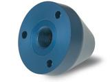 CNC-svarvade aluminium detaljer färdiga i maskin, efterbearbetning anodisering blå.